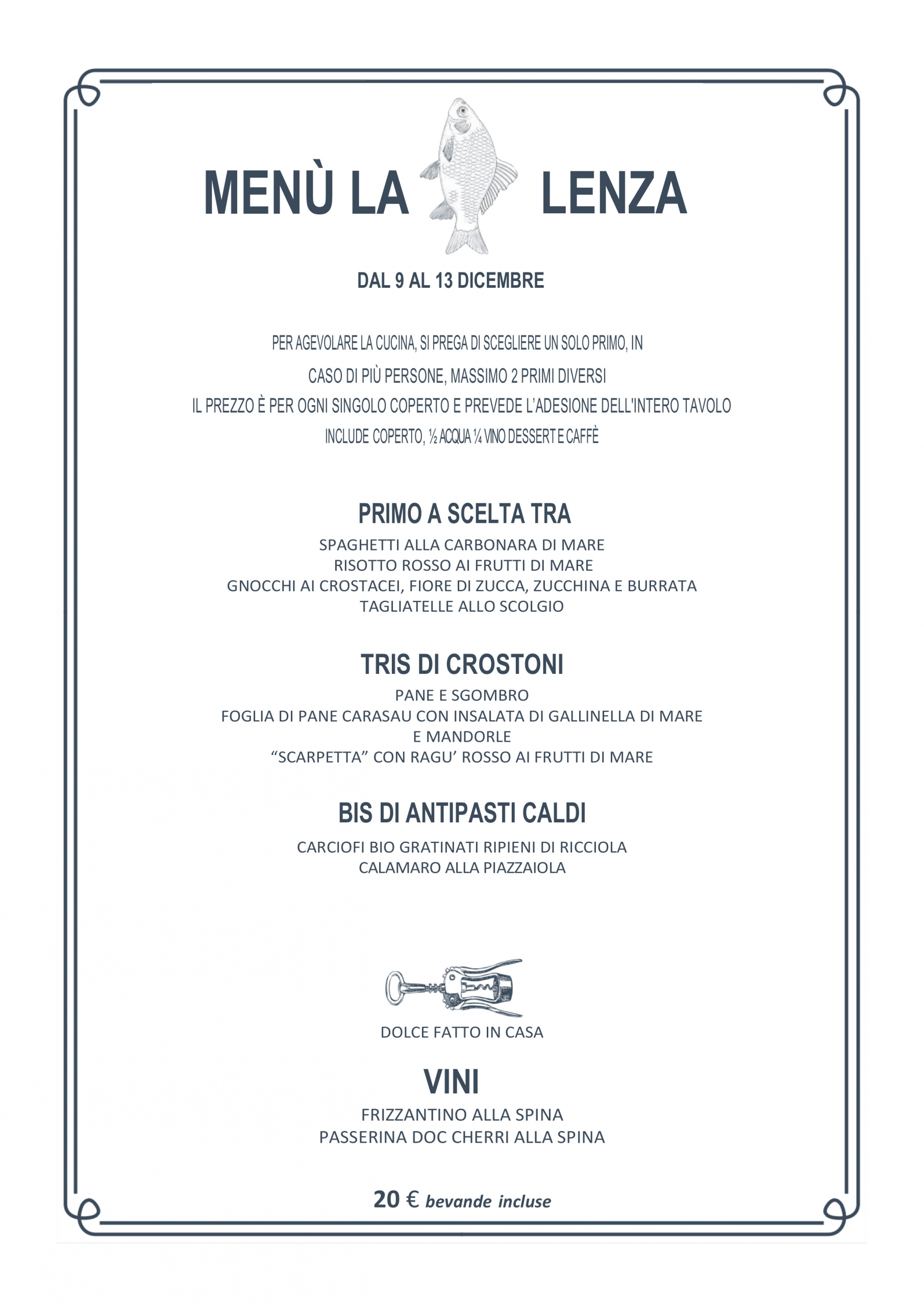 Menù Lenza